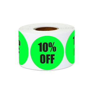 10 Off Sticker Yard Garage Sale Retail Store Clearance Labels 1 5 x1 5 10pk