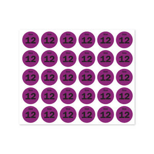 Size 12 Sticker Shoes Retail Store Clothing Shop Tag Labels 0 75 Round 10pk