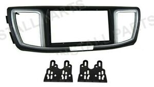 Single Double Iso Din Dash Kit Install Panel Pocket Fits 2013 2017 Honda Accord