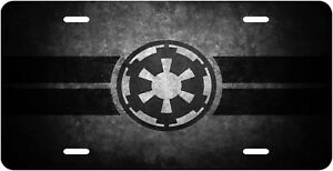 Star Wars Imperial Logo Aluminum License Plate Tag Auto