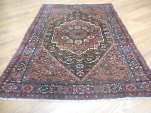 C1930antique Serapi Heriz Kurdish Bidkeneth Bijar Bidjar 3 7x4 6 Estate Sale Rug