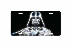 Star Wars Darth Vader Glowing Aluminum License Plate Tag Auto