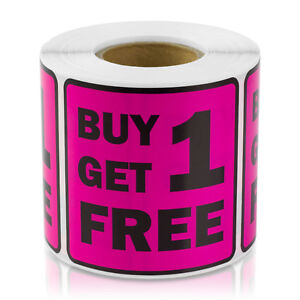 Buy One Get One One Free Labels Retail Garage Sale Store Price Stickers 2 1pk