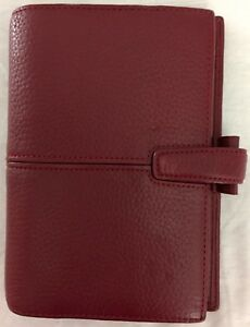 Filofax Personal Finchley Maroon 6 Ring Deluxe Leather 5 X 7 5 Organizer Inserts