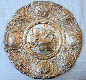 Antique Silverplate Barbour Silver Co Hand Crafted Embossed Tray