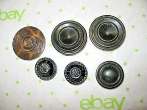 Lot Of Celluloid Metal Back Vintage Antique Button Asst Sizes And Colors