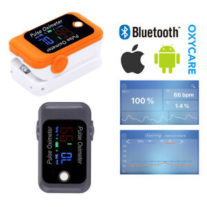 Bluetooth Finger Tip Pulse Oximeter Blood Oxygen Meter Spo2 Heart Rate Monitor