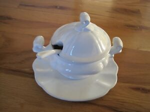 White Tureen Small Scale Unusual Numbered