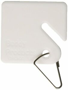 Buddy Products Blank Plastic Key Tags White Set Of 100 0017