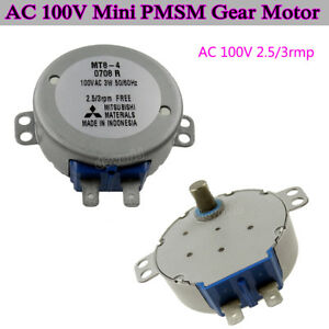 Mt8 4ac100v 110v 50tyz 3rpm Mini Pmsm Reduction Gear Motor Fan Head Motor Diy Fy