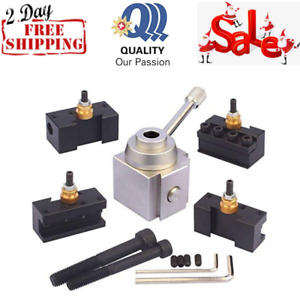 Mini Lathe Quick Change Tool Post Holder Metal Work High Positioning Accuracy
