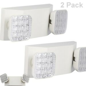 Lithonia Lighting 2 Light 12 In Wall mount Led Emergency Lamp Fixture 2 Pack