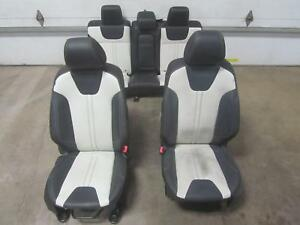 14 Ford Focus Front Rear Seats Seat Black Oxford White Leather Power Manual Oem