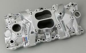 Edelbrock Performer Intake Manifold 21041 Chevy Sbc 283 327 350 For Stock Heads