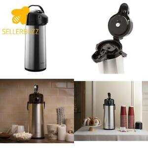 Bellemain 2 2 Liter Airpot Coffee Dispenser With Pump Stainless Steel Vacuum In