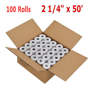100 Rolls case 2 1 4 57mm X 50 Thermal Receipt Cash Register Credit Card Paper