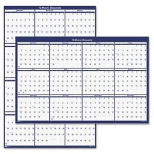 House Of Doolittle 396 Poster Style Reversible erasable Yearly Wall Calendar