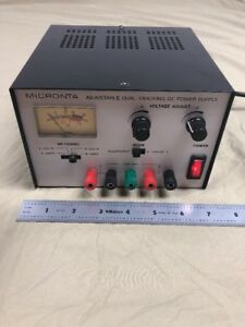 Micronta Adjustable Dual tracking Dc Power Supply 0 15vdc