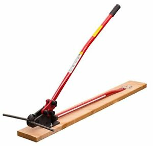 Hit Tools 22 rc16w 3 Rebar Cutter And Bender On Wooden Board 5 8 Red black