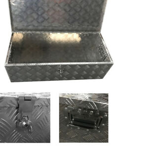 New Aluminum Under Body Tool Box With Keys 5 Bar Tread Automotive Tools 29