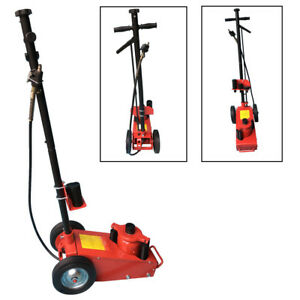 Hd 22 Ton Air Hydraulic Floor Jack Lift Wheels Truck Bus Lifting Bottle Jack Red