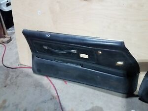 70 81 Firebird Trans Am Original Deluxe Black Vinyl Door Panel 2 Piece 77 Style