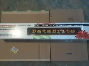 Beta Brite Color Led Message Board Wireless Programmable Sign 29 No Remote