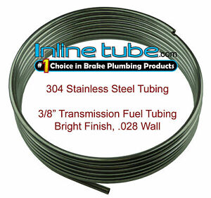 304 Stainless Steel Brake Fuel Transmission Line Tubing 3 8 Od Coil Roll Flare