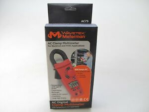 Wavetek Meterman Ac75 Clamp Multimeter For Electrical Hvac Application New
