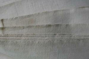 Huge Vintage French Linen Metis Sheeting Unused Fabric Upholstery 118x87 N3