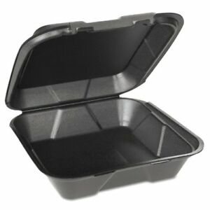Gen pak Sn200vw 3l Foam Hinged Carryout Containers 1 compartment sn200vw3l