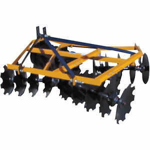 King Kutter Angle Frame Disc Harrow 4 1 2 ft Notched 16 12 g n yk