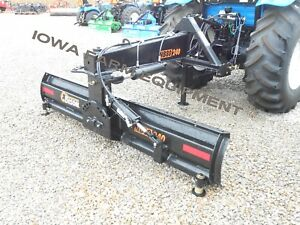 Bison 8 Hd Tractor 3pt Rear Blade quick Hitch Compat Manual Angle tilt