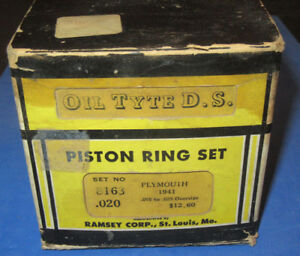Nos 1941 Plymouth Oil Tyte D s Oversize Piston Ring Set