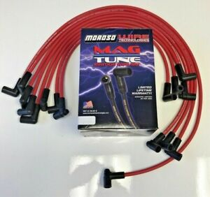 8mm Spark Plug Wires Hei Distributors 90 Deg Premium Moroso Over Covers Sbc Red