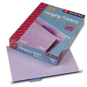 Smead 64064 Hanging File Folders 1 5 Tab 11 Point Stock Letter Lavender