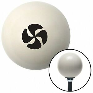 Black Automotive Cooling Fan Ivory Shift Knob With 16mm X 1 5 Insert Late Model