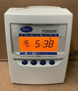 Lathem 7000e Calculating Time Recorder 100 Time Cards Spare Ribbon