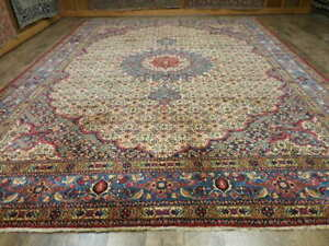 C1930 Vg Dy Antique Moud Mouud Herati Bijar Bijdar 10x13 Estate Sale Rug