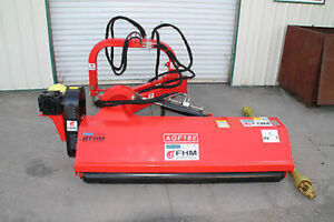 55 Ditch Bank Flail Mower Cat ii 3pt 35 75hp Pto fh agf140 W hammer Blades