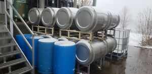 75 Gallon Stainless Steel Barrel Drums 2 Sanitary Fitting