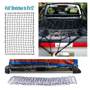 Truck Bed Stretch Net Heavy Duty Cargo Bungee Tailgate Rv Suv Pickup Accessories