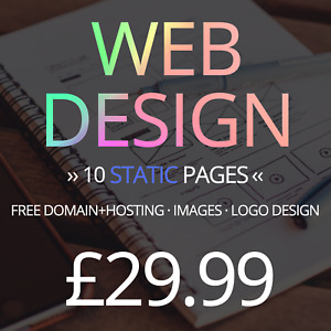 10 Page Website Web Design Service Domain Hosting Images And Logo Included