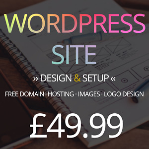 Wordpress Website Web Design Service Domain Hosting Images And Logo Included