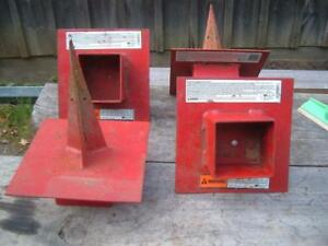 4 Used Pump Jack Pole Anchors Good Condition