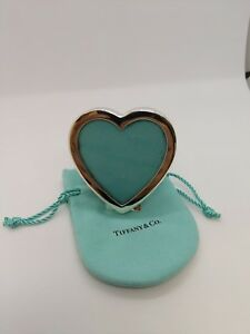 Tiffany Co Sterling Silver Small Heart Picture Frame