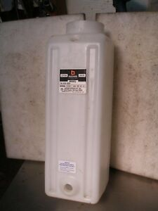 Bucher Hydraulic White Plastic 2 4 Gallon Reservoir Tank Car Garage Lift