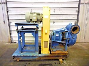 Rx 3604 Metso Mm250 Lhc d C5 10 X 8 Slurry Pump W 15hp Motor And Frame