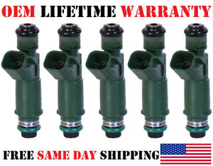 5 Pack Genuine Oem Denso Fuel Injectors For Volvo V70 S60 2 4l I5 Part 9470229
