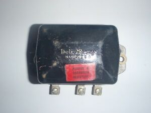 Nos Delco Remy 6 Volt Voltage Regulator 1940s 1950s 6v Corrosion Resistant